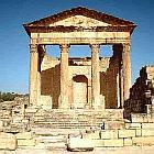 Das ehemalige Kapitol von Dougga - Tunisia